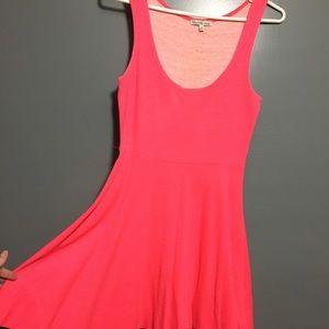 Charlotte Russe hot pink skater dress